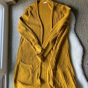 Silence and Noise Long Yellow Cardigan